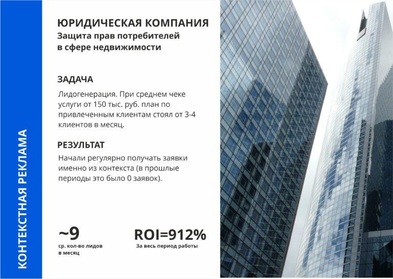 контекстная реклама для юридической компании