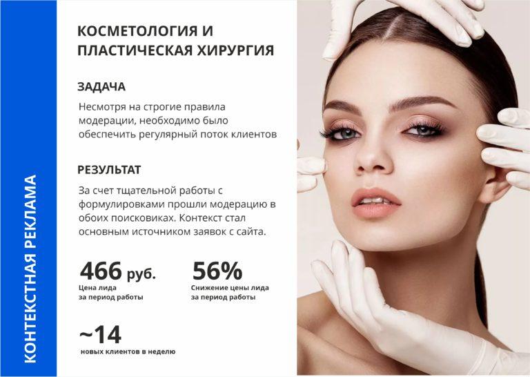 контекстная реклама для косметологии