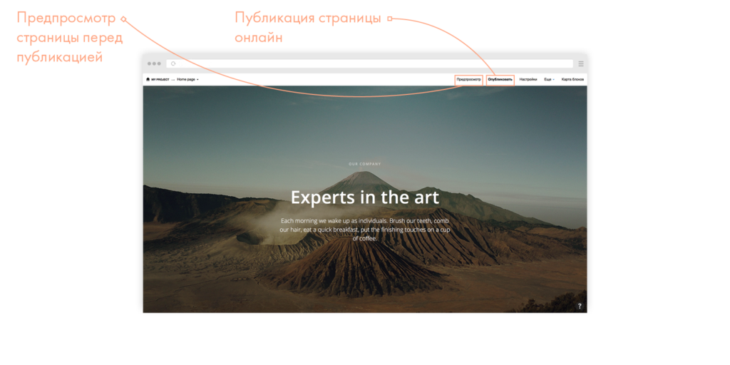 Tilda публикация и сохранение
